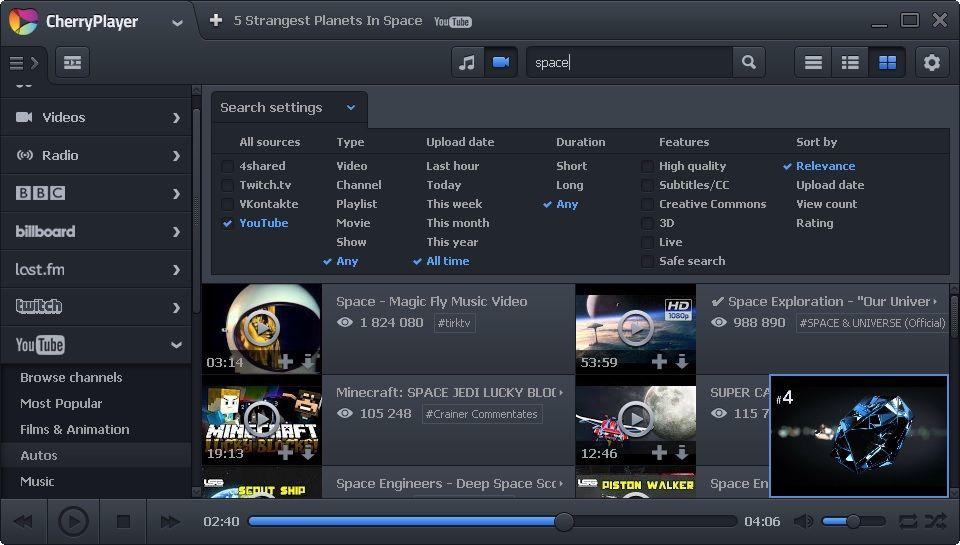 CherryPlayer 3.3.2 多國語言免安裝 - 獨特的多媒體播放器 - 軟體吧